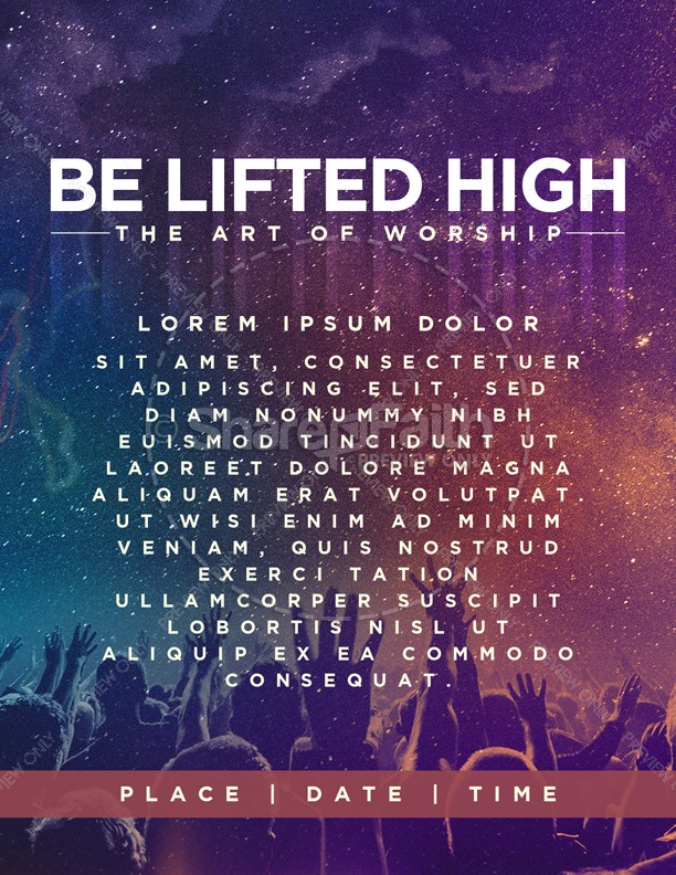 Be Lifted High Church Flyer