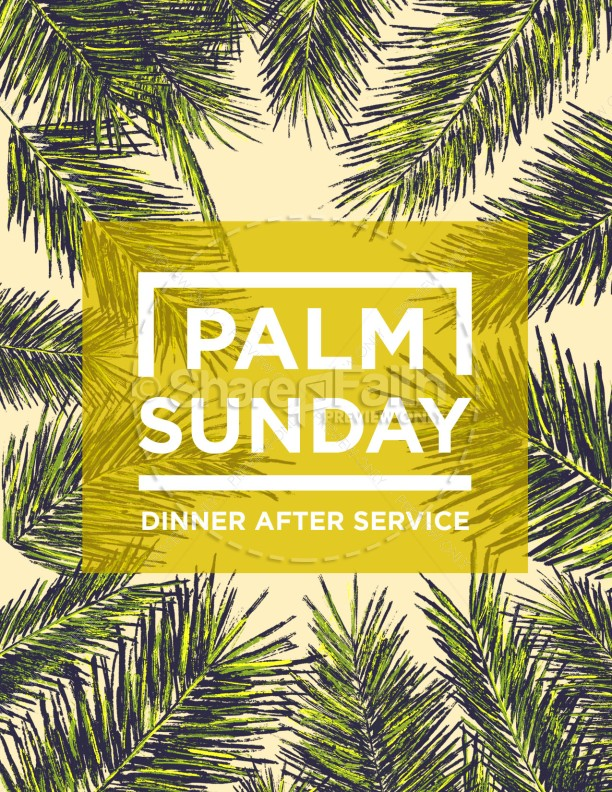 Palm Sunday Palm Branches Flyer
