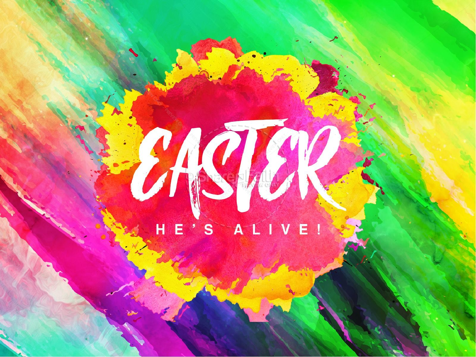 Easter Paint Splash Church PowerPoint