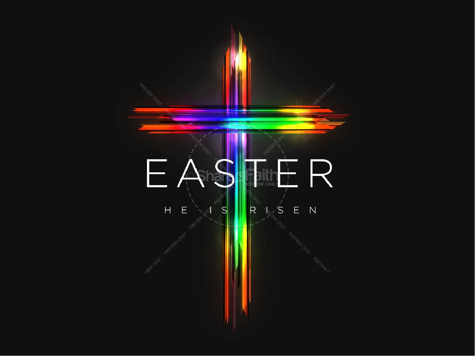 Easter Cross He Is Risen Sermon PowerPoint | slide 1