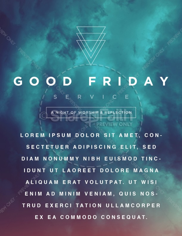 Good Friday Service Flyer Template