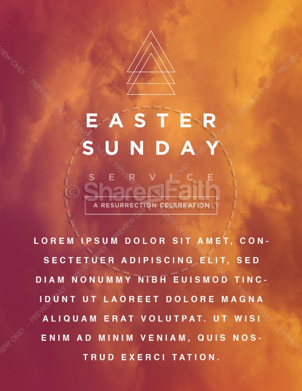 Easter Sunday Service Church Flyer