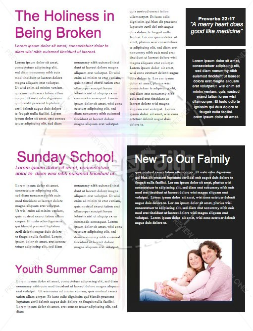 Easter Cross He Is Risen Newsletter   page 2