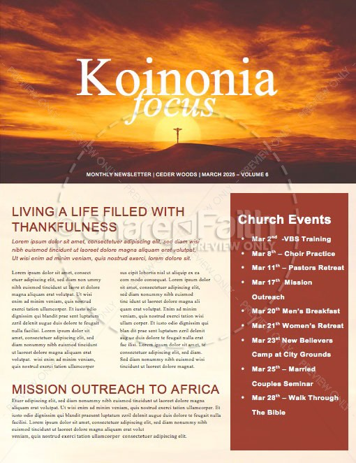 This Changes Everything Church Newsletter | page 1