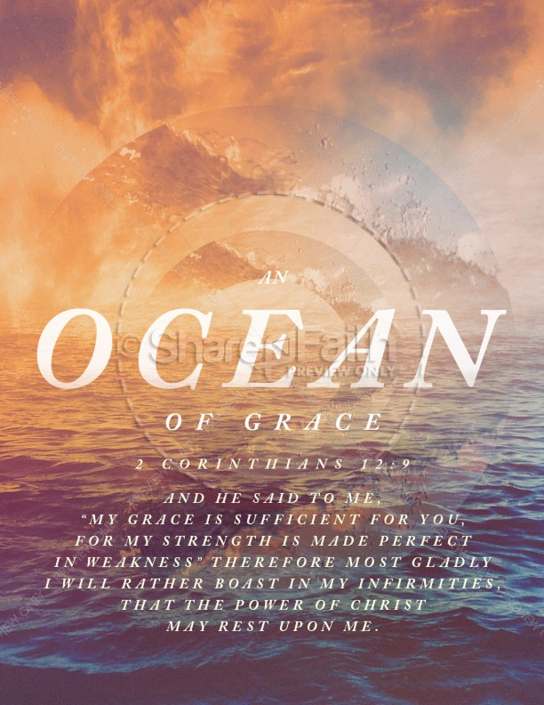 Ocean Of Grace Church Flyer Template