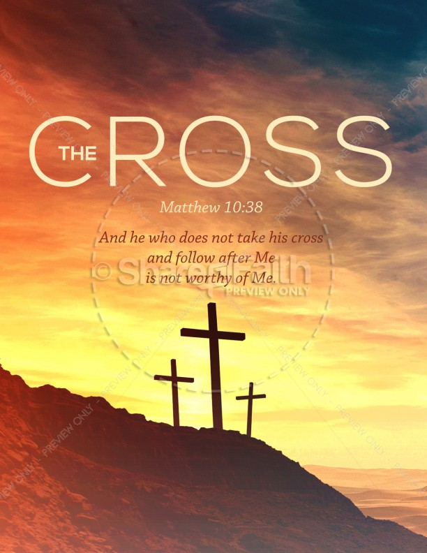 The Cross of Christ Church Flyer Template | page 1