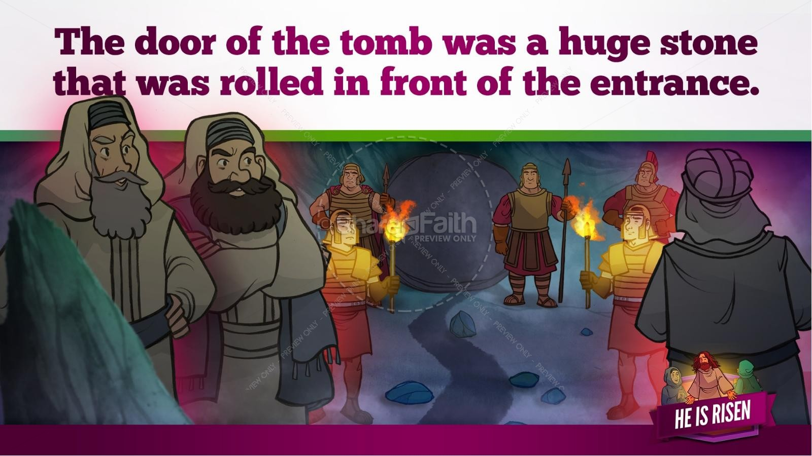 Matthew 28 He Is Risen Easter Kids Bible Lesson | slide 24