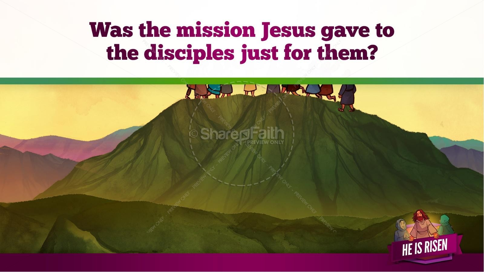 Matthew 28 He Is Risen Easter Kids Bible Lesson | slide 37