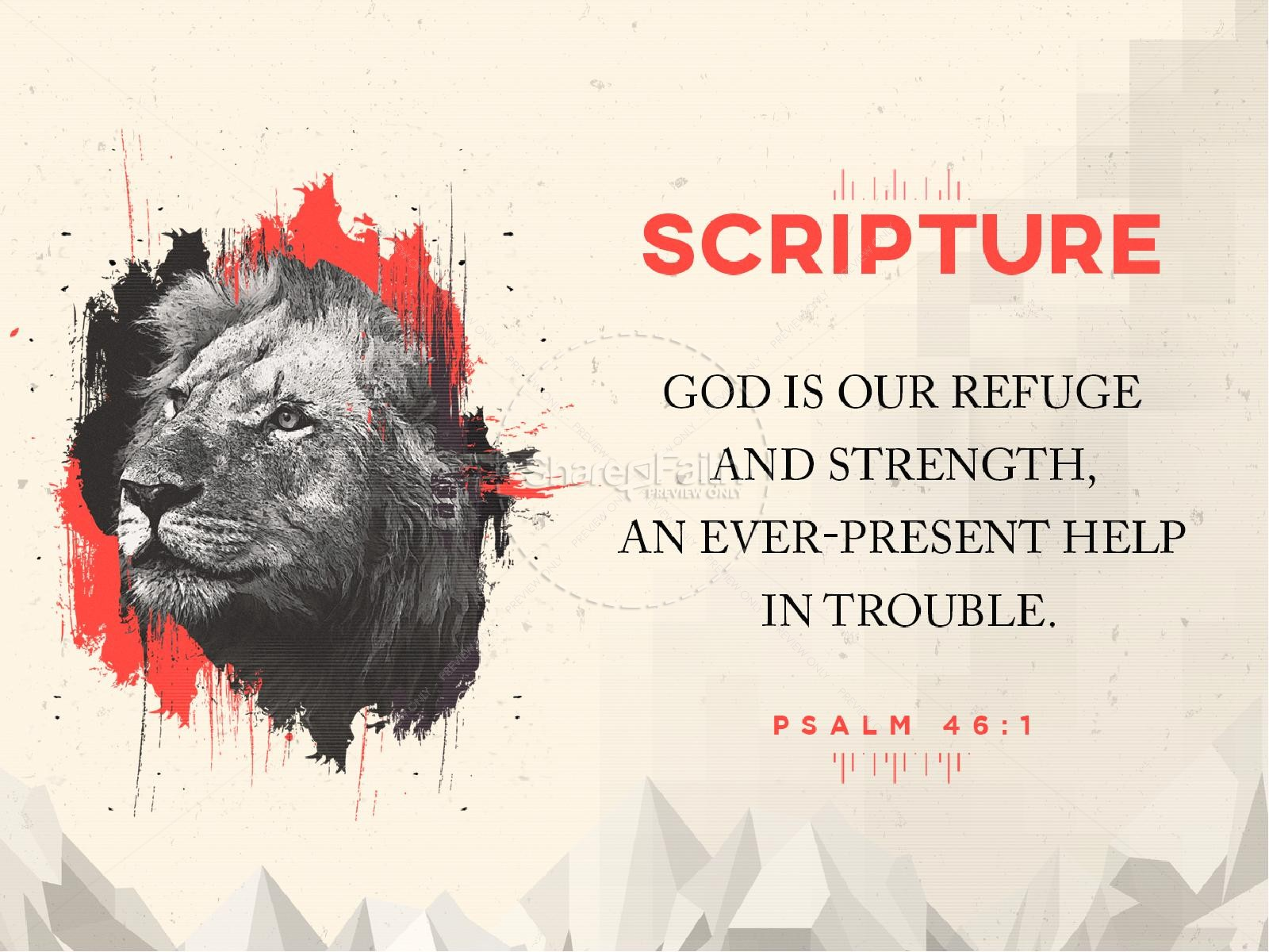 God Is Our Refuge And Strength Sermon PowerPoint | slide 4