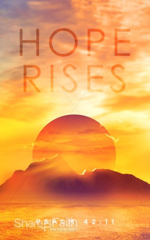 Hope Rises Church Bulletin Sermon Bulletin Covers