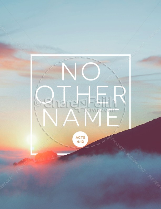 No Other Name Church Flyer Template