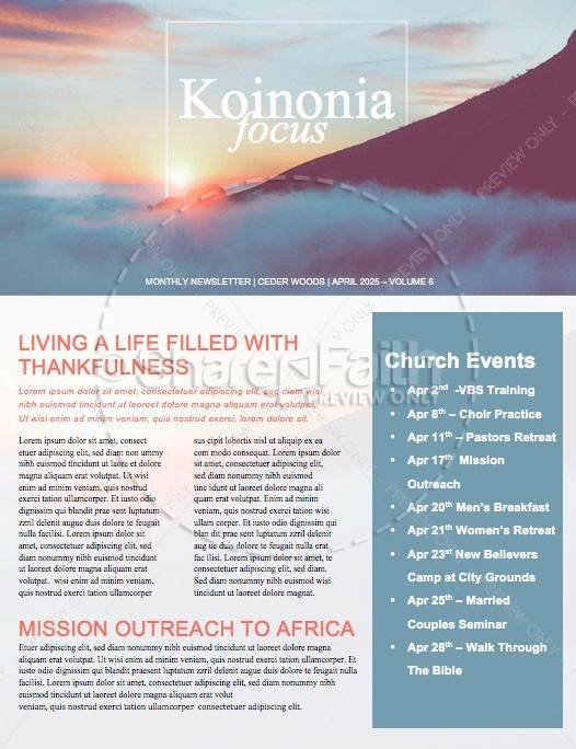 No Other Name Church Newsletter