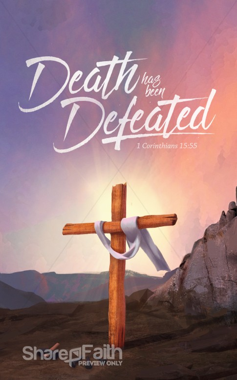 Death Has Been Defeated Easter Bulletin Easter Bulletins
