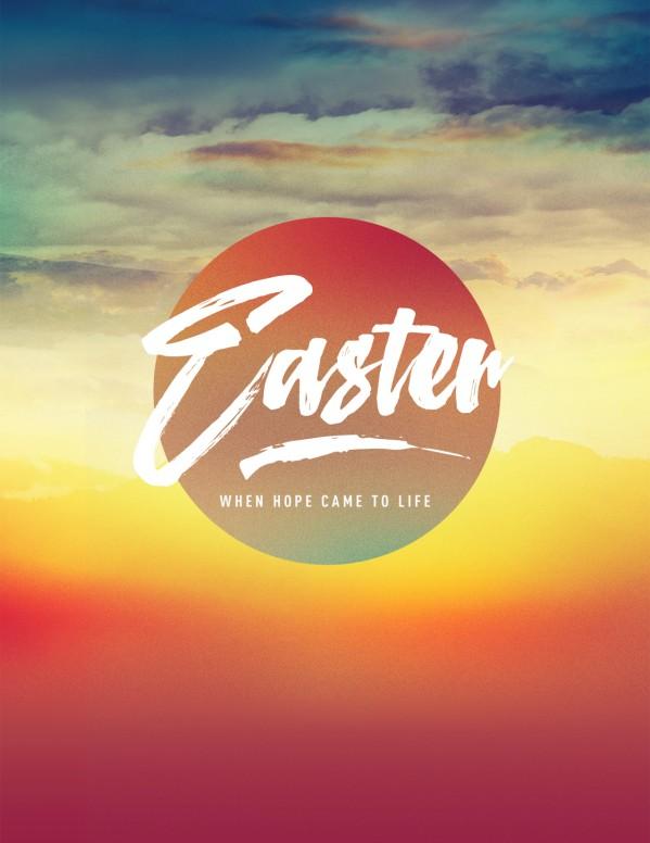 Easter Sunrise Flyer Template Template Flyer Templates