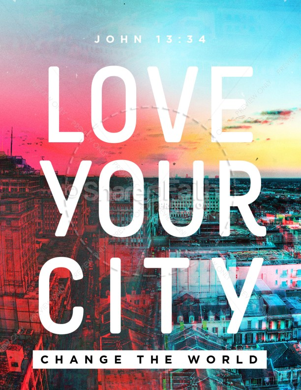Love Your City Church Flyer
