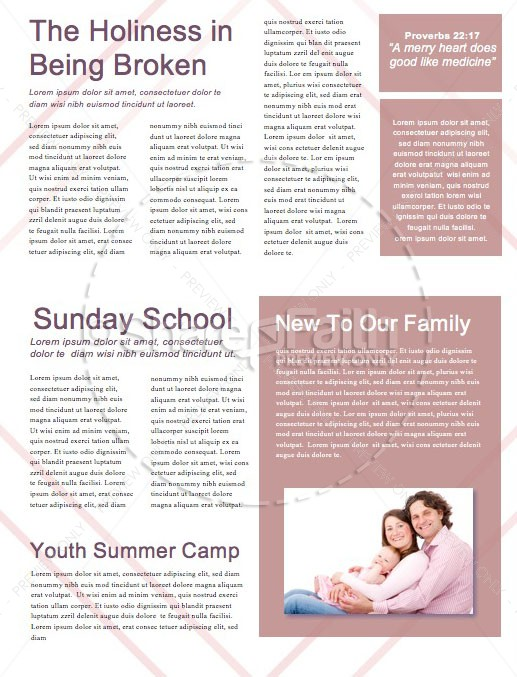 Happy Mother's Day Church Newsletter