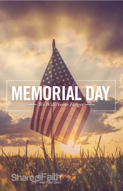 Memorial Day Weekend Church Bulletin