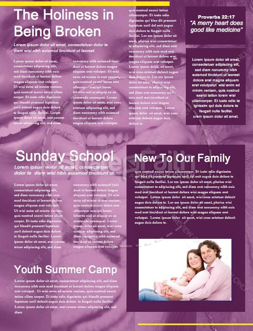 Mother's Day Blessing Church Newsletter