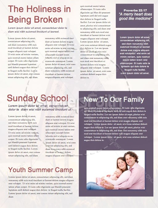 Memorial Day Weekend Church Newsletter