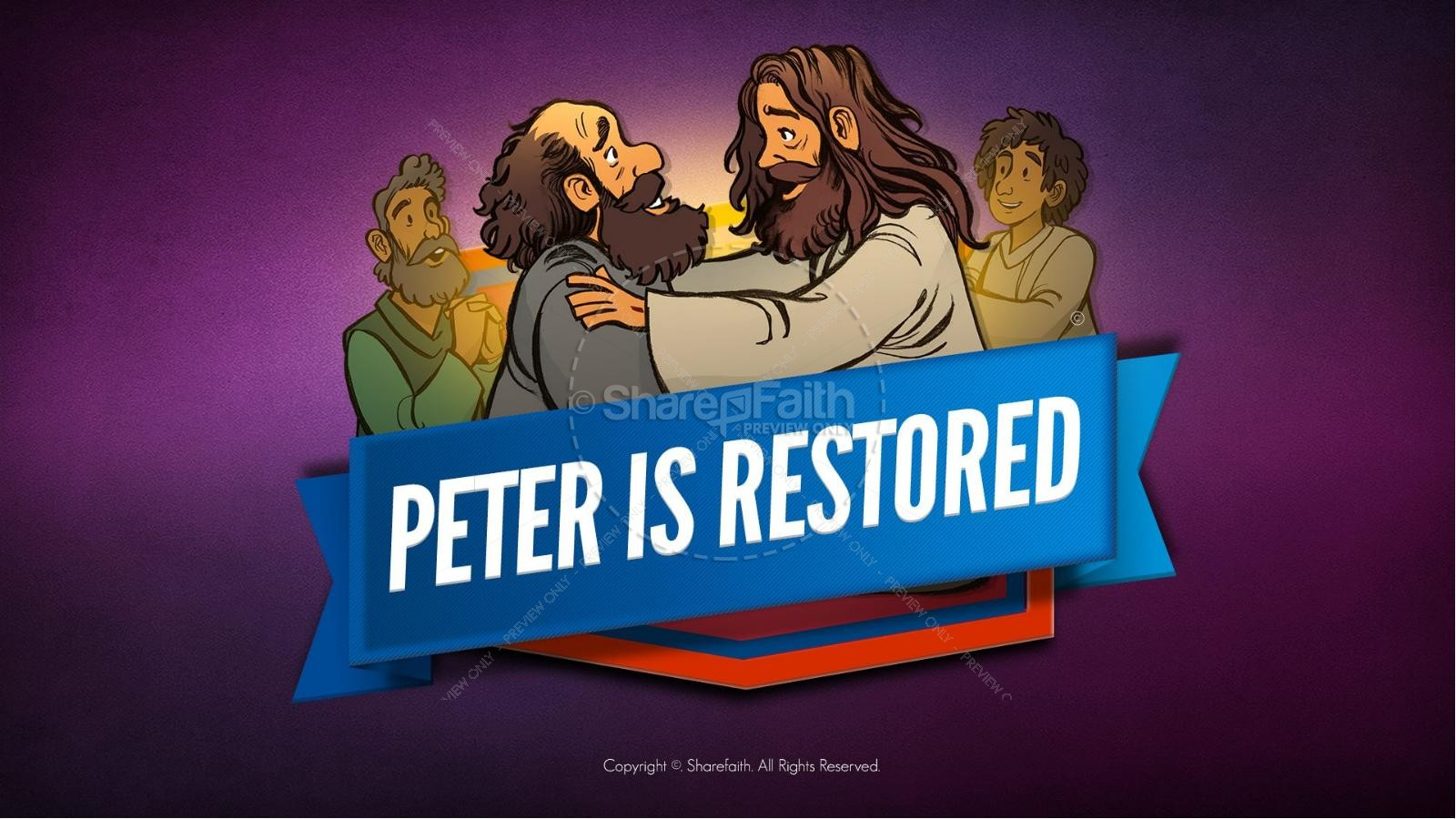 John 21 Peter Is Restored Kids Bible Lesson | slide 1