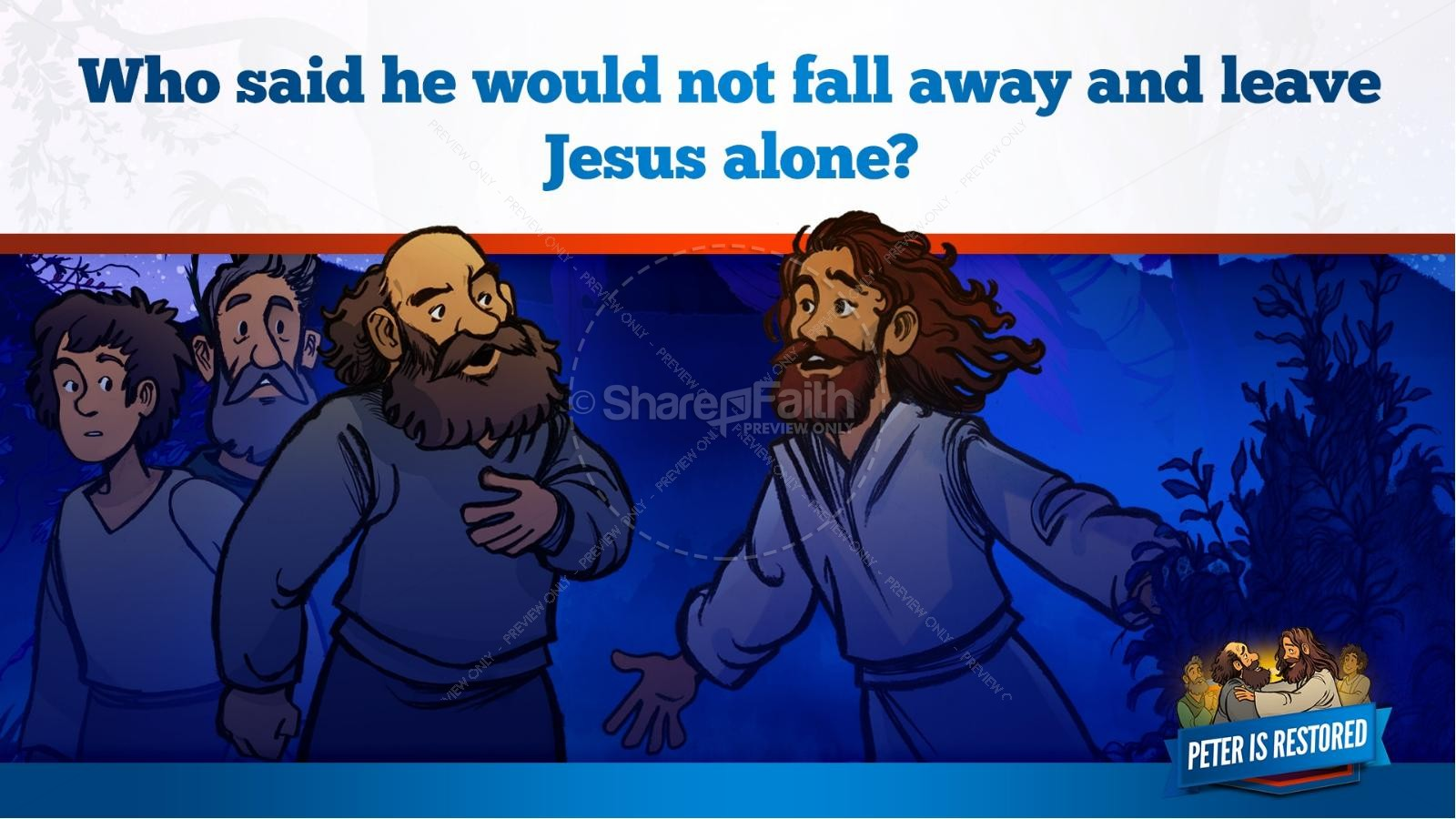 John 21 Peter Is Restored Kids Bible Lesson | slide 11