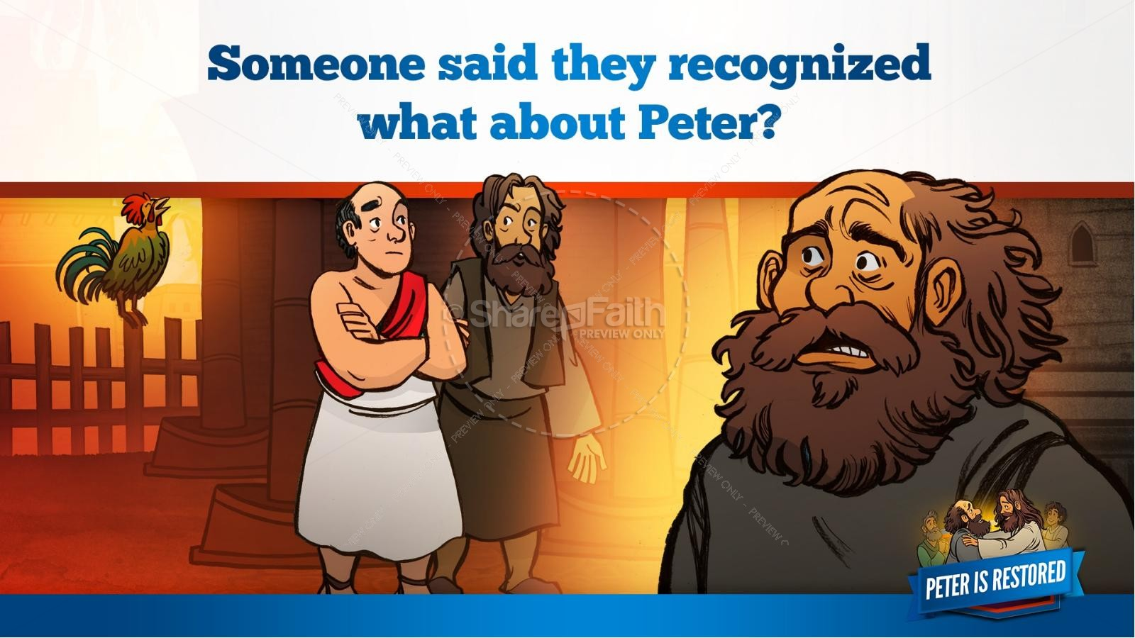 John 21 Peter Is Restored Kids Bible Lesson | slide 19