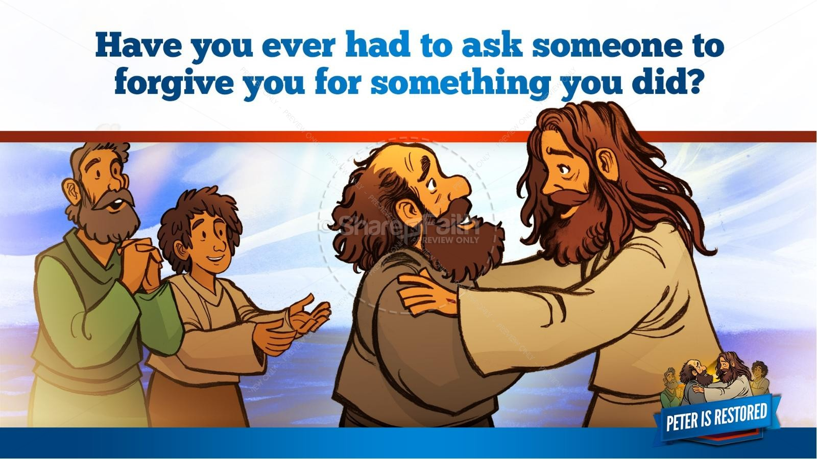 John 21 Peter Is Restored Kids Bible Lesson | slide 37