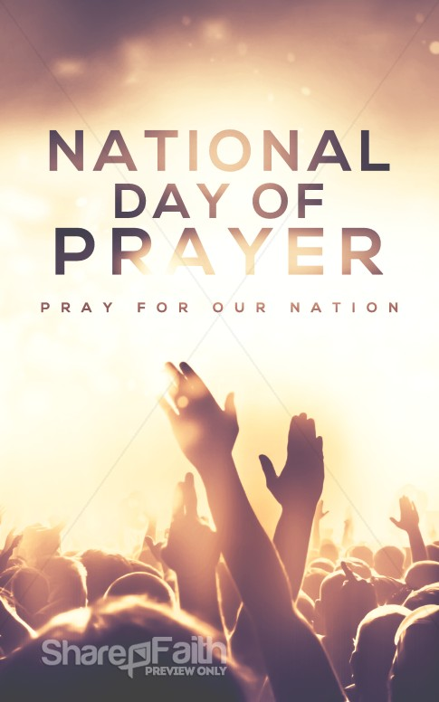 national day of prayer worship church bulletin