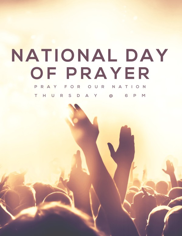 National Day Of Prayer Worship Church Flyer Template