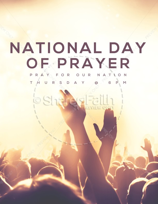 National Day of Prayer Worship Church Flyer   page 1