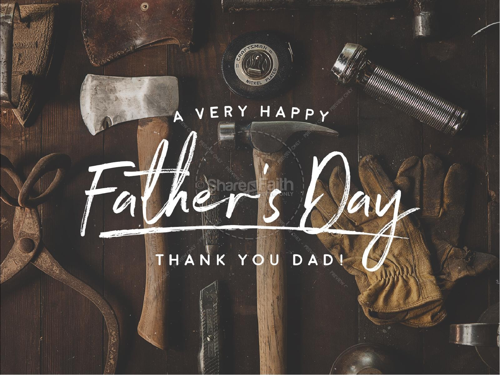 Working Dads Father's Day Sermon PowerPoint | slide 1
