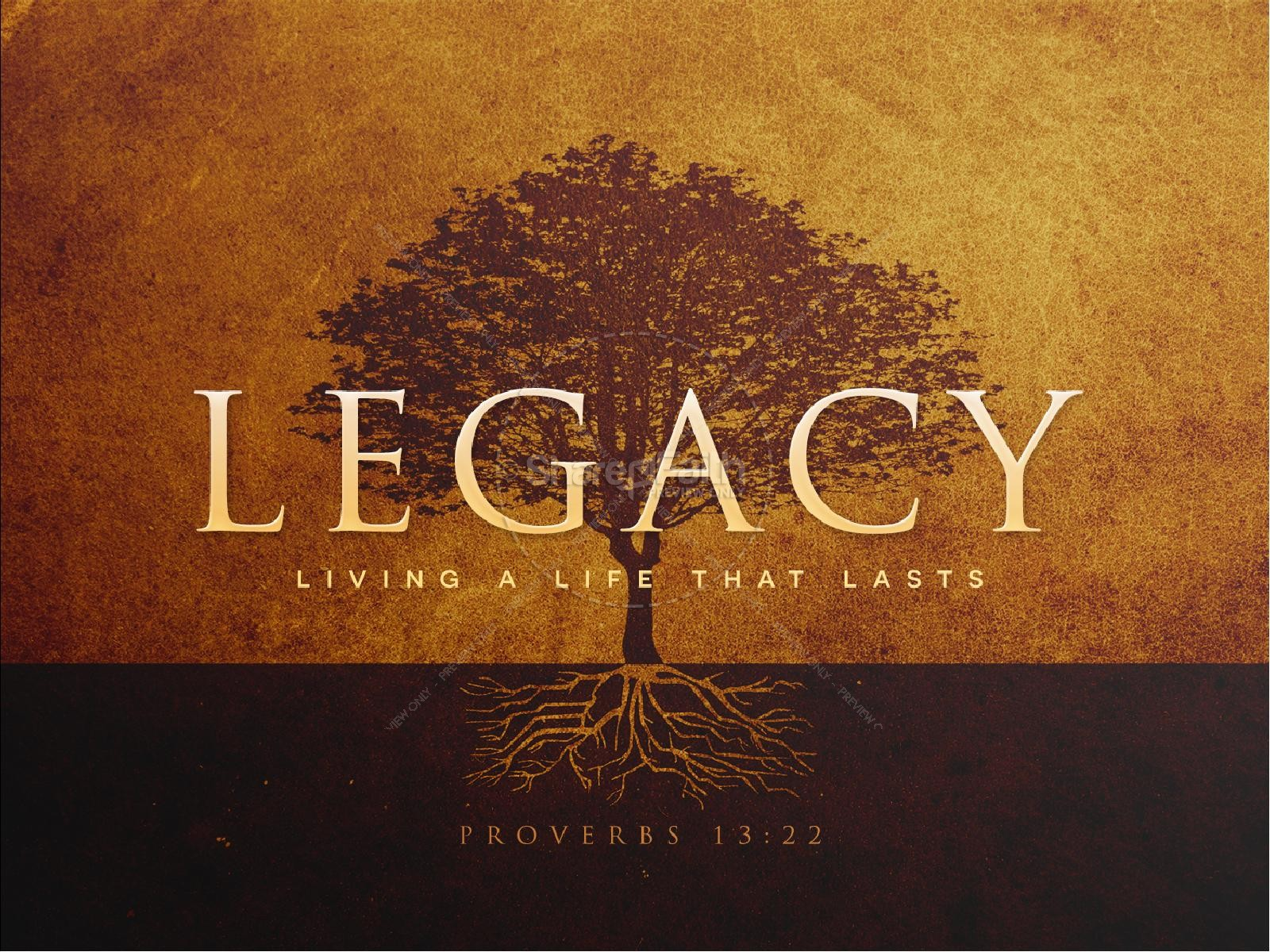 Leaving A Godly Legacy Sermon PowerPoint | slide 1