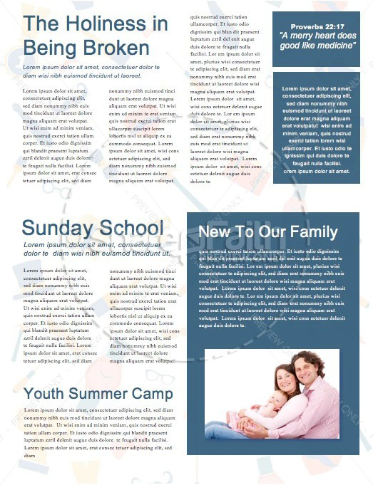Happy Father's Day Church Newsletter Template