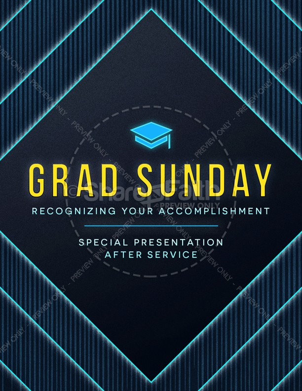 grad sunday church flyer template