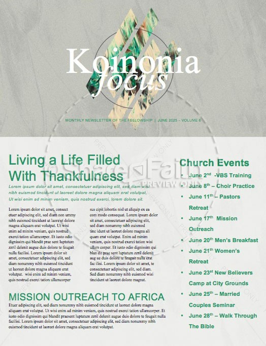 Inseparable Church Newsletter
