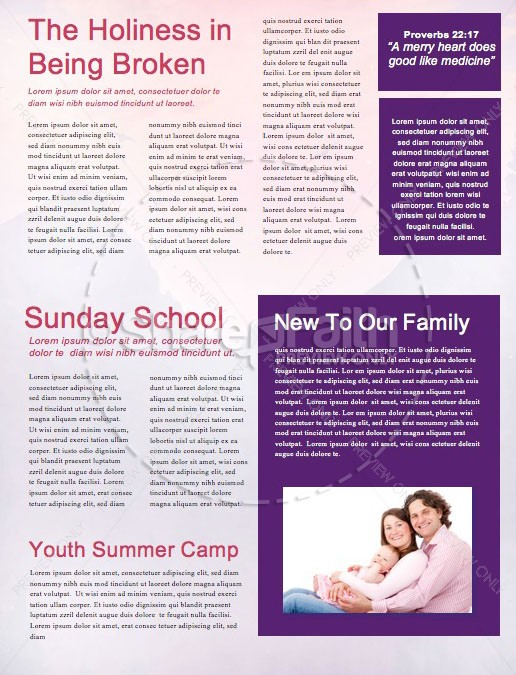 Church Summer Camp Newsletter