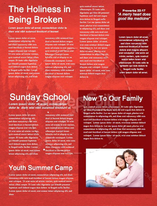 Canada Day Holiday Church Newsletter