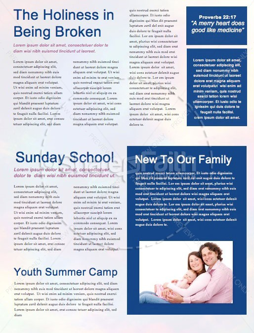 Christ the Center Church Newsletter Template