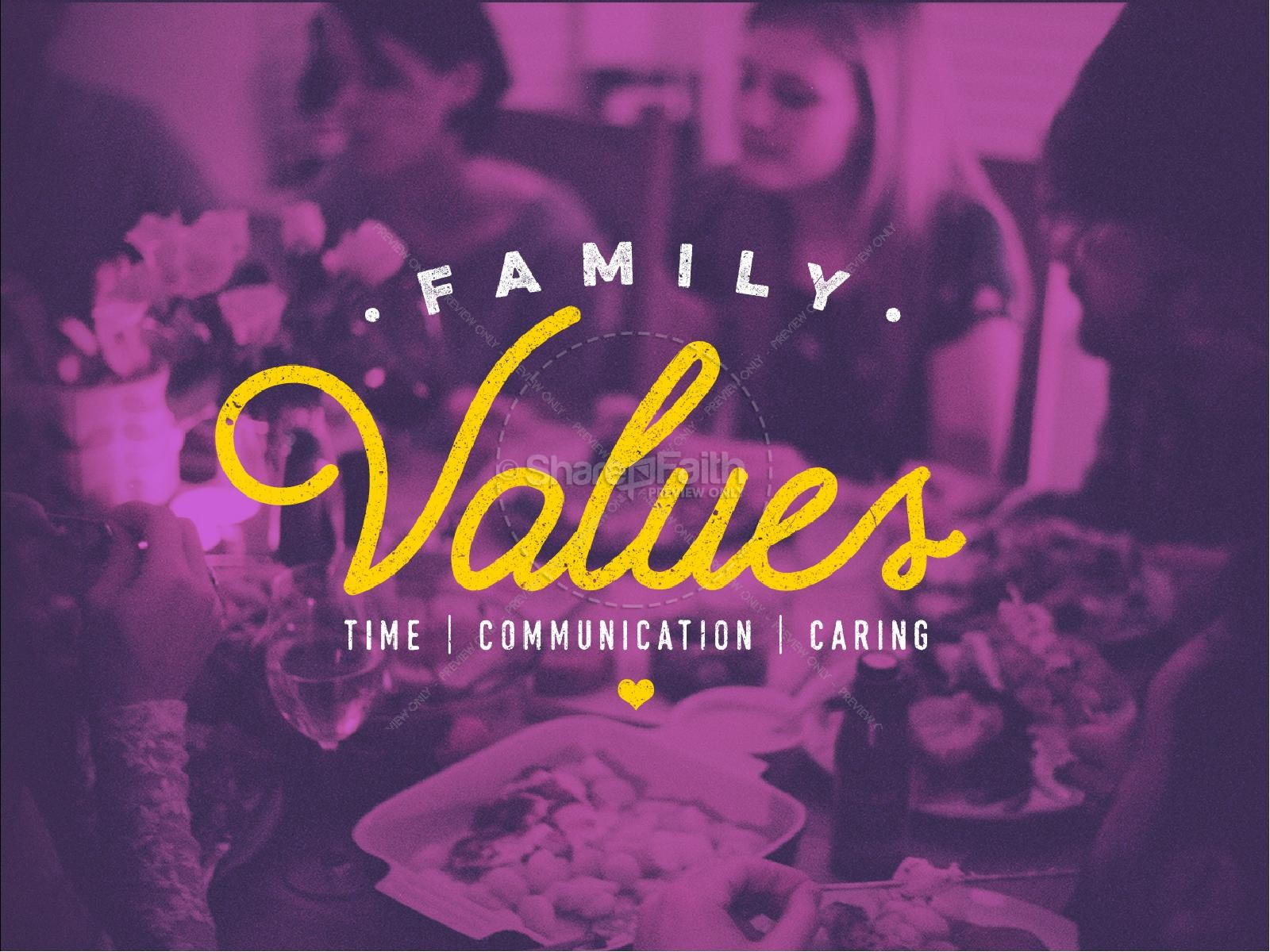 Family Values Sermon PowerPoint