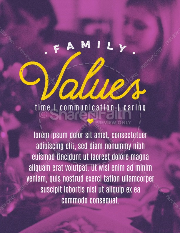 Family Values Church Flyer Template