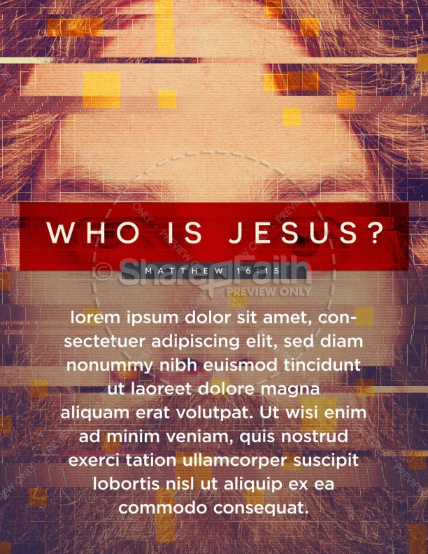 Who Is Jesus Church Flyer Template