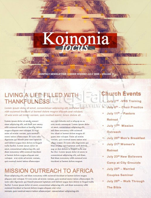 Who Is Jesus Church Newsletter Template
