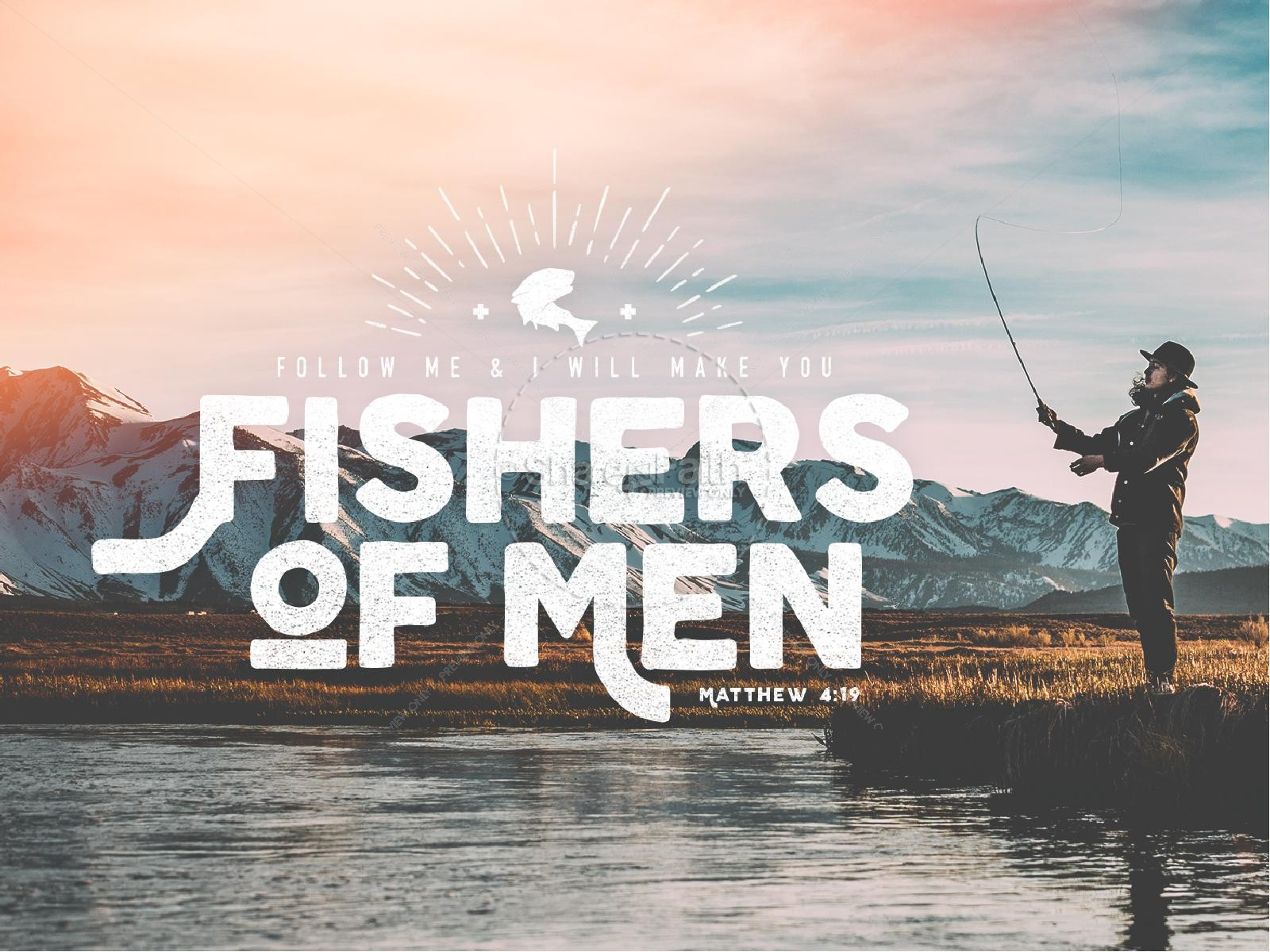 Fishers of Men Sermon PowerPoint Template