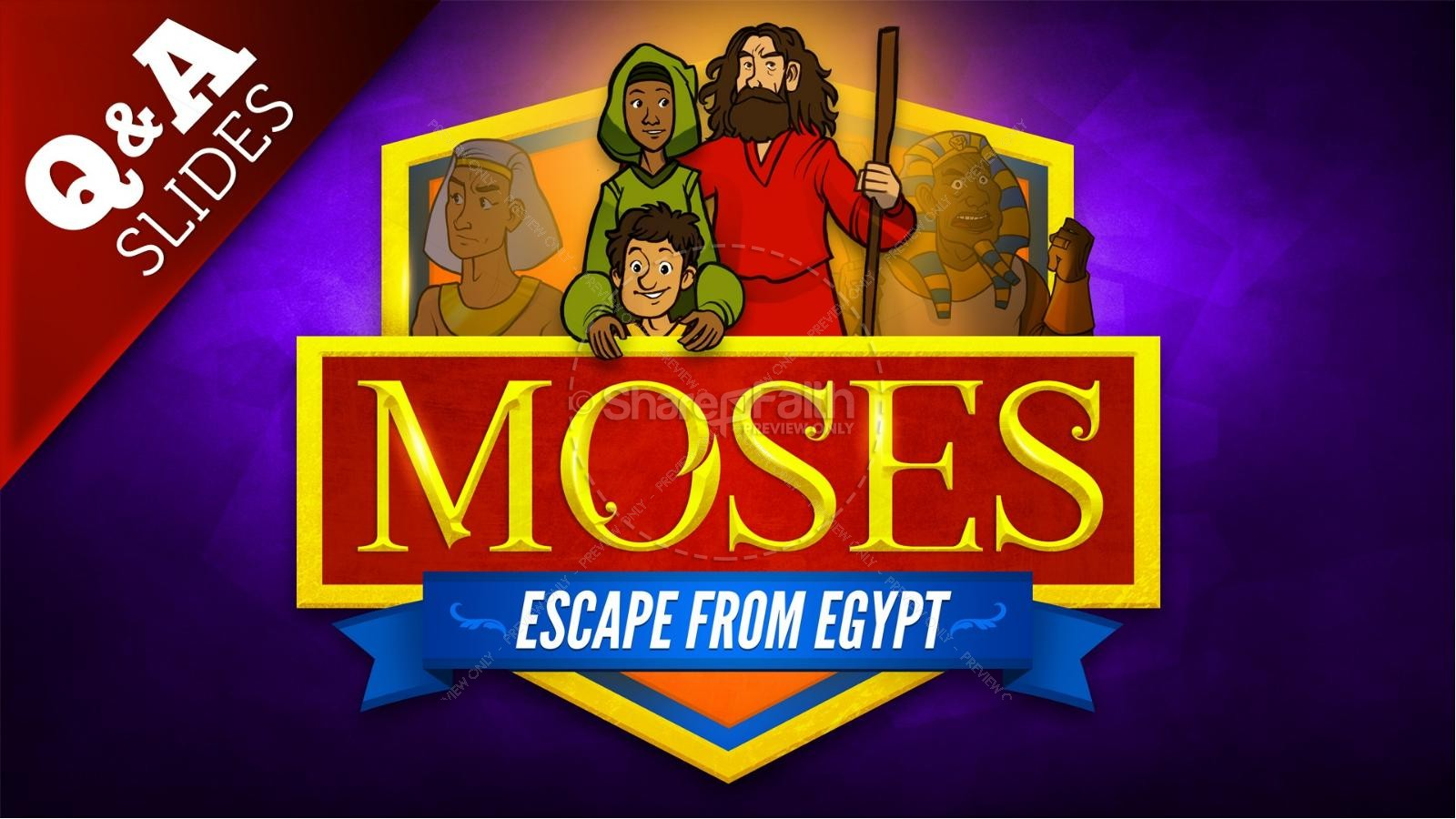 Exodus 2 Moses Escapes From Egypt Kids Bible Story | slide 9