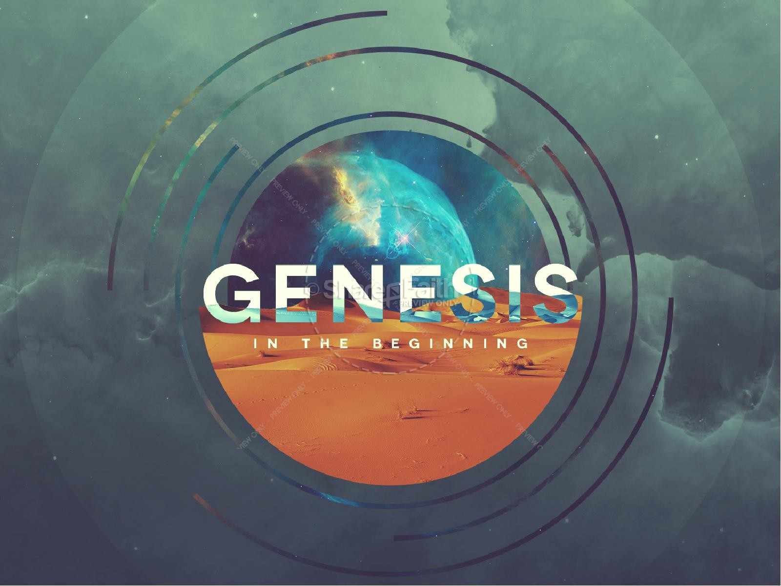 Genesis In The Beginning Sermon Graphic
