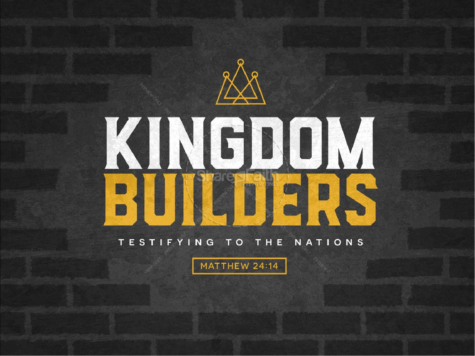 Kingdom Builders Sermon Graphic