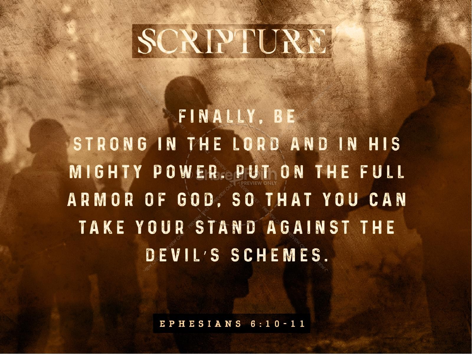 Spiritual Battle Sermon PowerPoint Template | slide 4