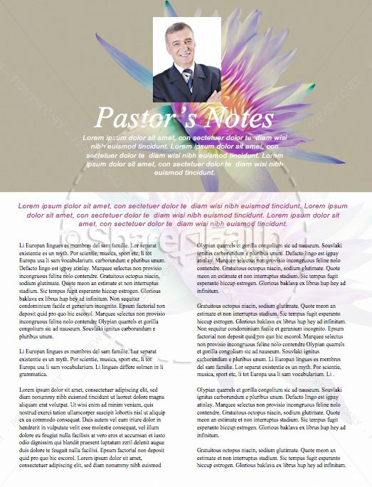 Generosity Sermon Series Newsletter Template