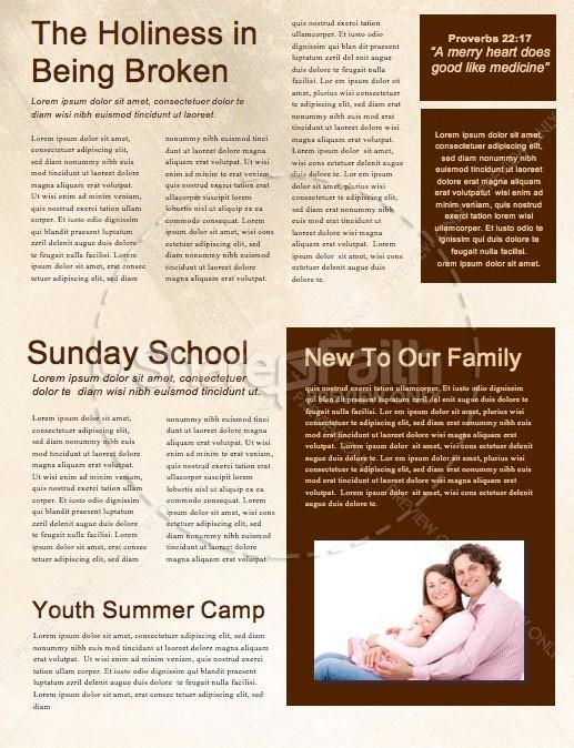 Spiritual Battle Church Newsletter Template | page 2