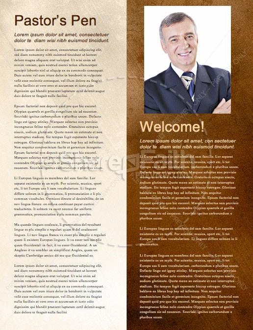 Spiritual Battle Church Newsletter Template | page 3
